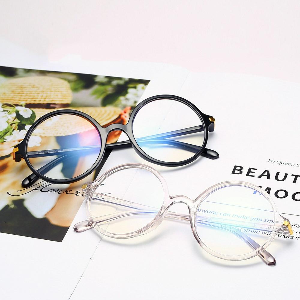 Gafas redondas Retro para mujeres, gafas antiluz azul, gafas graduadas para miopía, gafas ultralivianas, gafas transparentes para hombres