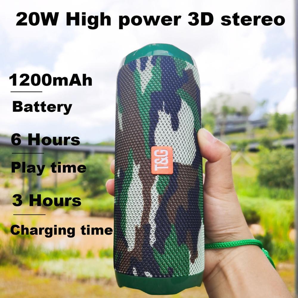 20W altavoces Bluetooth portátiles 3D estéreo hifi subwoofer sistema de sonido para...