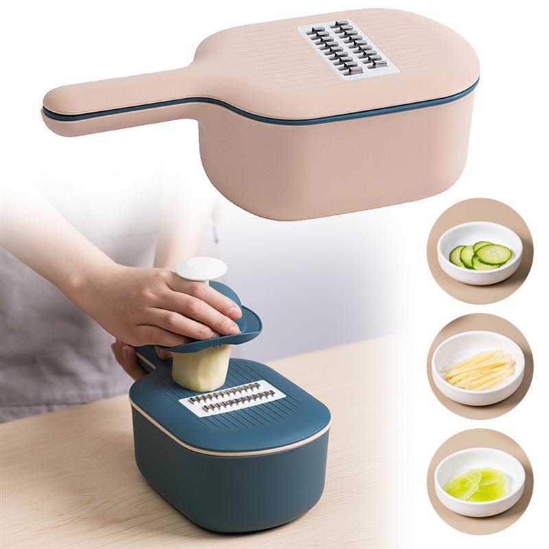 Vegetable Cutter Slicer Chopper Strainer Basket Multi-Function Spiralizer Grater Food Peeler Mandoline Shredder Kitchen Tools