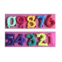 1pc arabic numerals silicone cake mold fondant mold cake decorating tools chocolate gmpaste mould cake mould ftm875