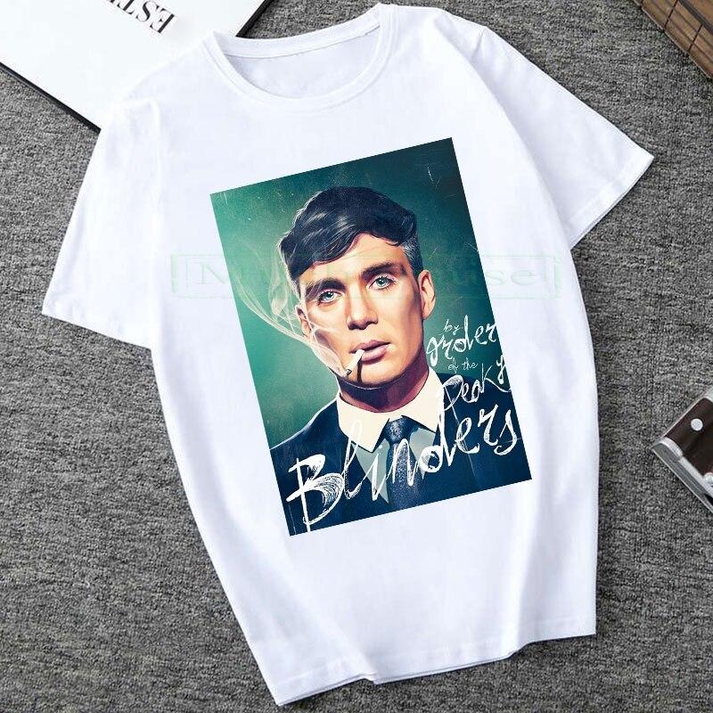 Peaky Blinder baumwolle druck casual herren t shirts mode für männer tops Unisex T-shirt kurzarm Oansatz männer t-shirt Streetwear 2020