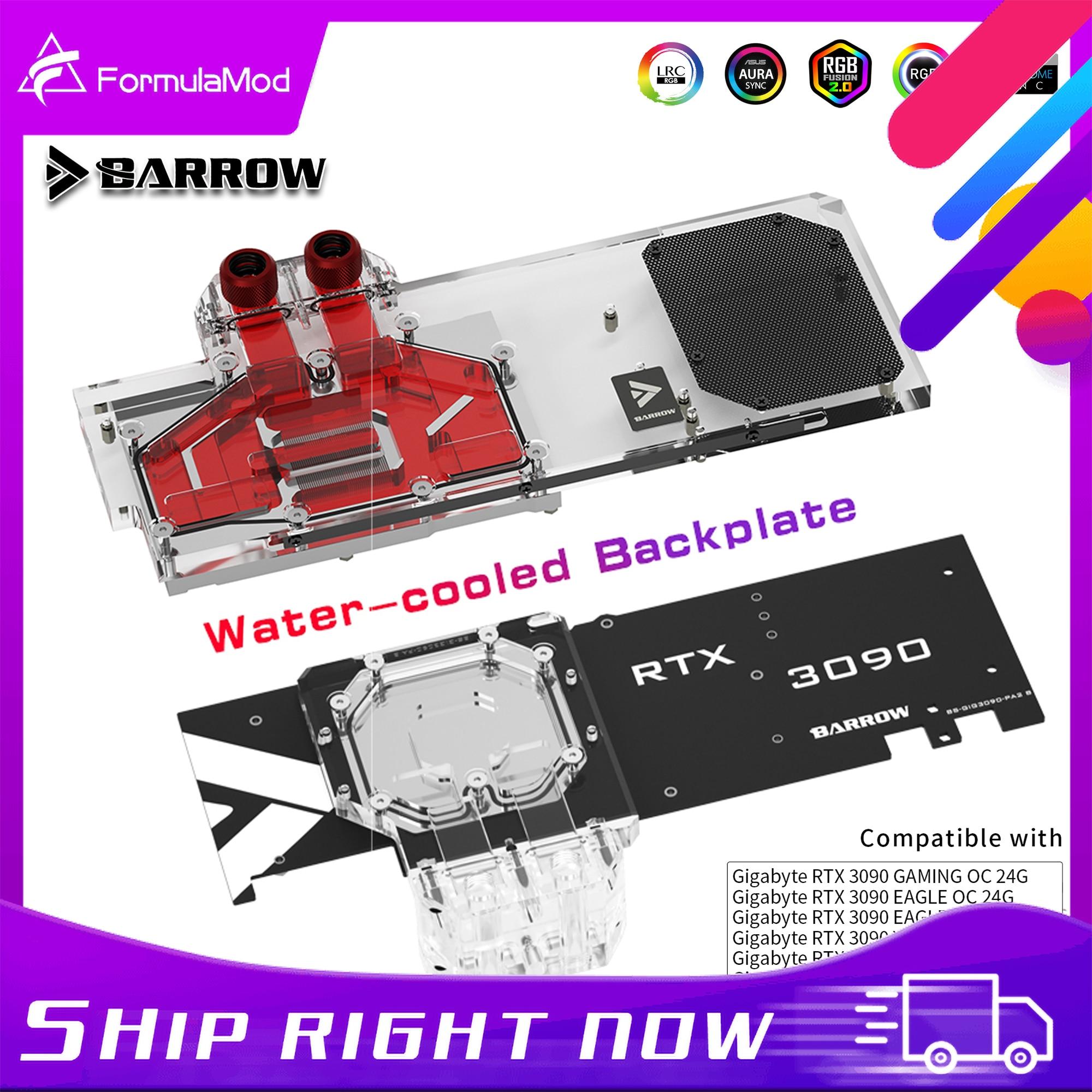 بارو GPU المياه كتلة التبريد لوحة الكترونية معززة لجيجابايت 3090 3080Ti 3080 الألعاب النسر الرؤية ، الممر الخلفي BS-GIG3090-PA2 B