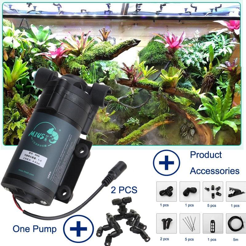 الزواحف مبيد ضباب الرش الغابات المطيرة خزان 360 قابل للتعديل حوض السمك المائية Pet نظام التغشية