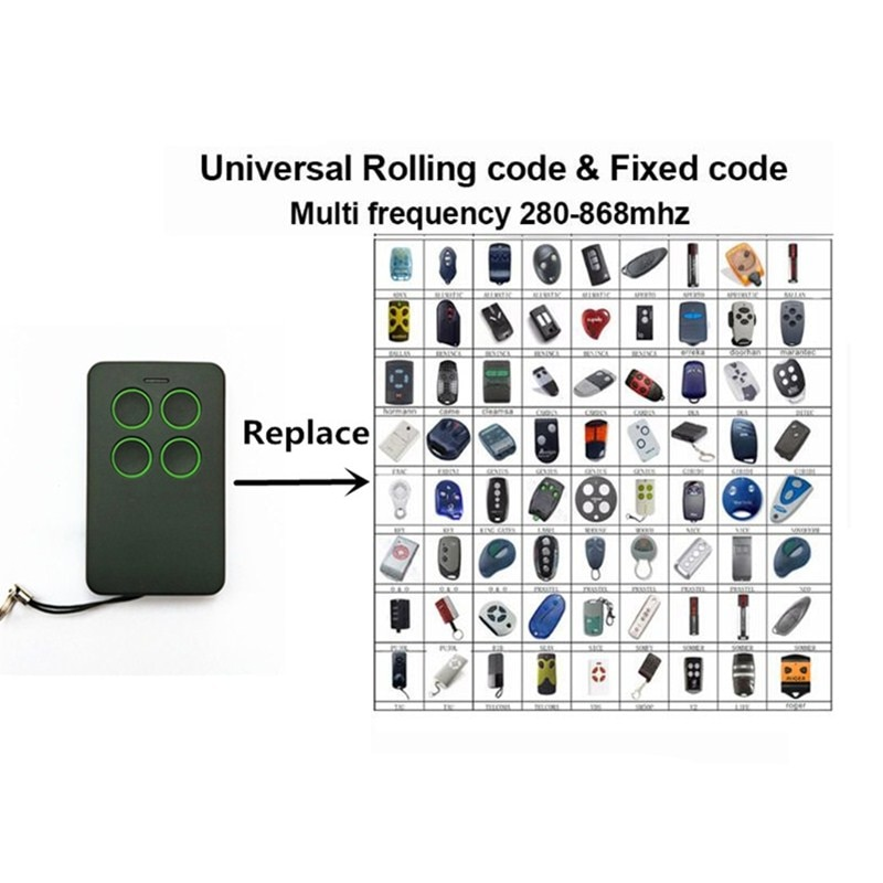 4 canal multi frequência 280 a 868mhz fixo & rolling code sem fio duplicador remoto