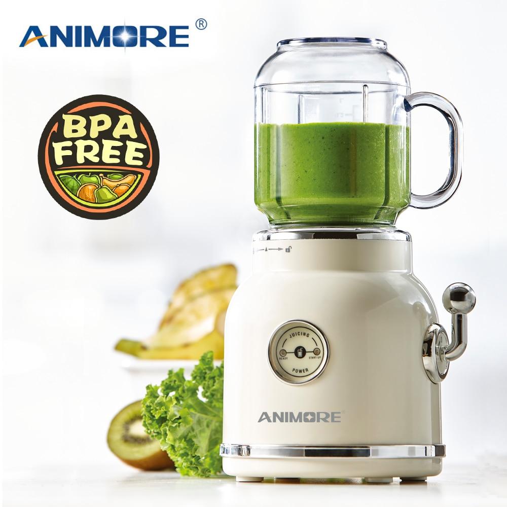 Licuadora de zumo Retro ANIMORE, exprimidor de frutas, batidora multifunción para alimentos de bebés, máquina para hacer zumos, licuadora portátil para frutas