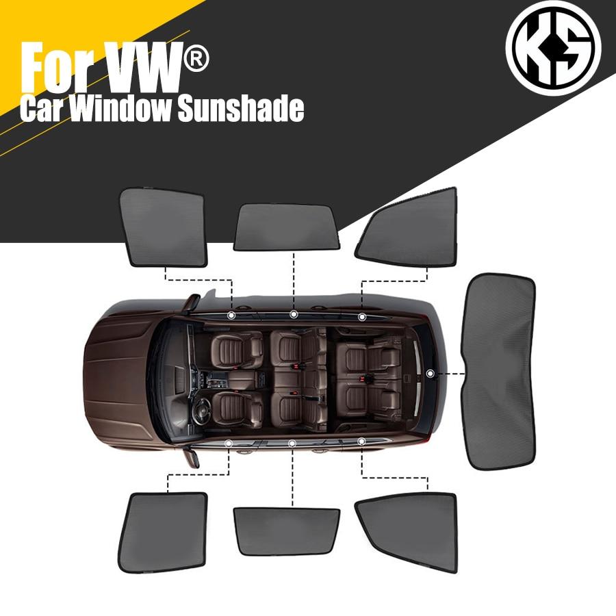 Магнитные боковые автомобильные солнцезащитные козырьки на заказ для VW Volkswagen Passat Golf 7 Tiguan POLO, оконные шторы, солнцезащитные козырьки, летние
