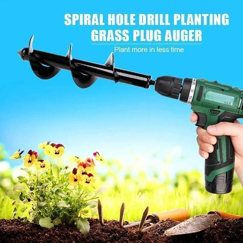 Auger Drill Bit Garden Planter Spiral Electric Twist Flower Bulb Hex Shaft Pile Driver Yard Woodworking Post Hole Digger Tools
