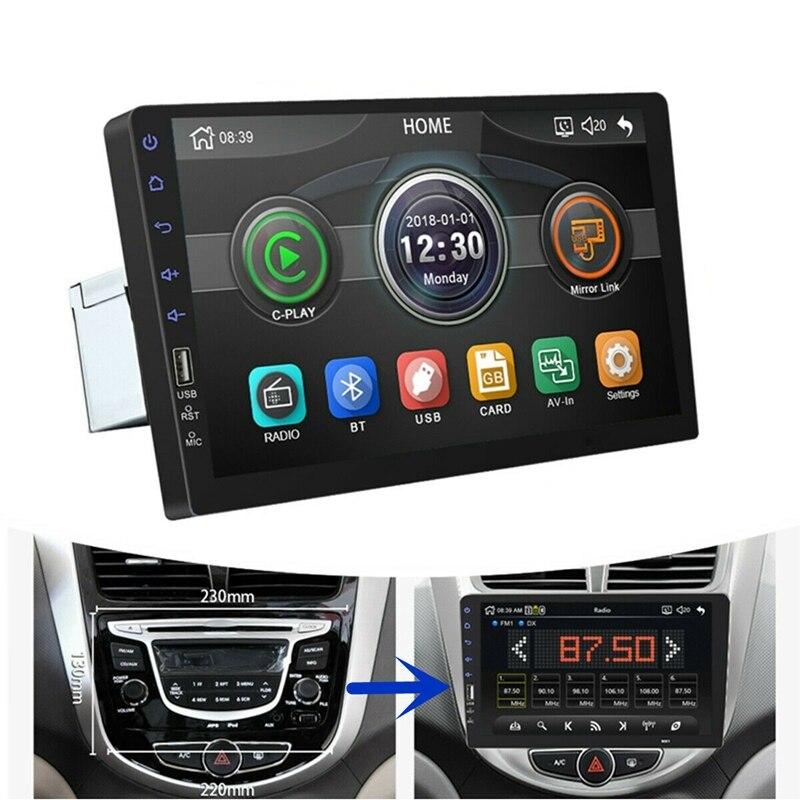 9 дюймов 1Din Автомобильный MP5 плеер пресс-экран fm-радио Bluetooth USB AUX зеркальная ссылка