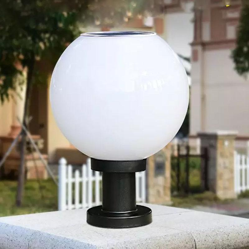 MeterMall Wasserdichte Solar Kreisförmige Wand Licht Solar-powered Ball-form LED Wand Licht Zaun Straße Lampe Dekoration