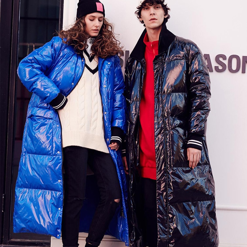 Nueva colección de listas de moda de invierno chaqueta cálida larga de plumón Parkas Flash talla grande 7XL resistente al agua y al viento