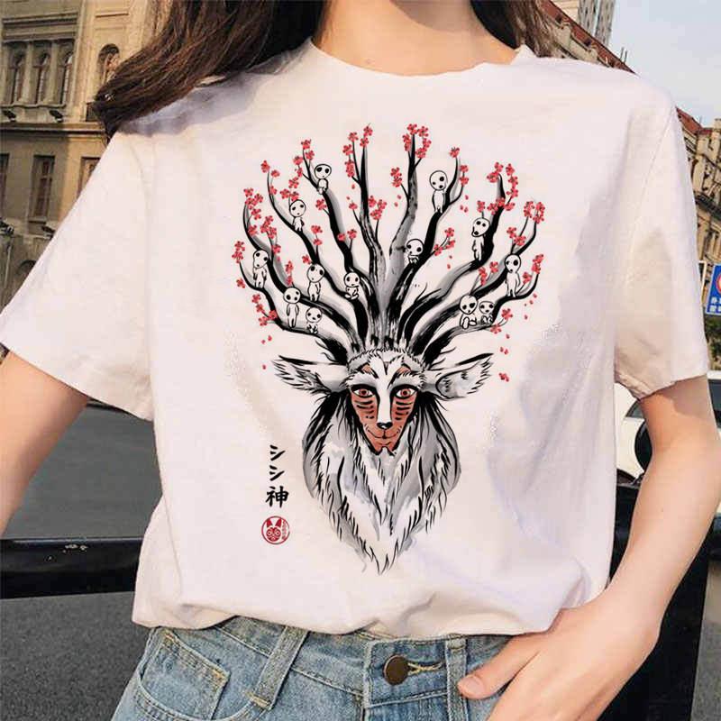 Totoro T Shirt Women Top Tee Shirts Casual Harajuku T-shirt Studio Ghibli Tshirt Japanese Anime Top Tee Feamle Clothing