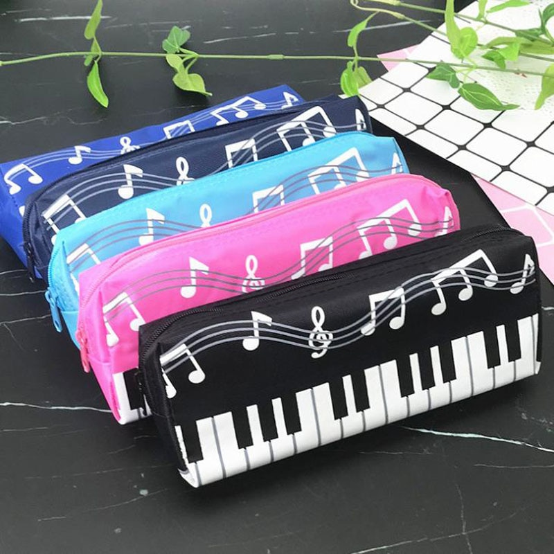 1 Pcs Creative Music Notes Piano Keyboard Pencil Case Large Capacity Pencil Bags Stationery Office S