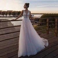 licht rosa prinzessin %c3%a4rmellose appliqued braut a linie hochzeit kleider boho kleid