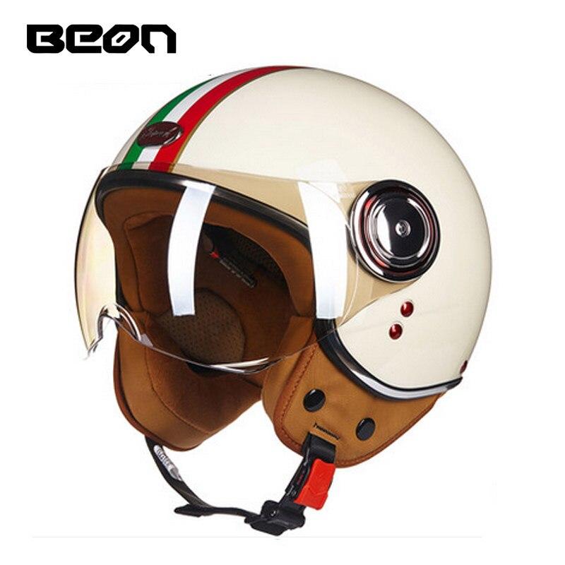 BEON B110B с открытым лицом 3/4 мотоциклетный шлем Casco Capacete, реактивный Ретро шлем, шлем скутера ECE