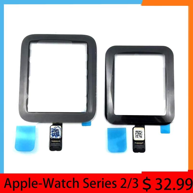 Cristal táctil LCD DE 38mm, 40mm, 42mm, 44mm para Apple Watch Series 1, 2, 3, 4, 5 con cola OCA laminada