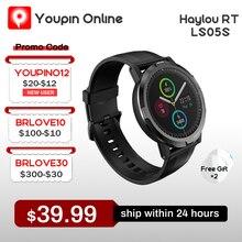 Haylou RT LS05S Haylou Solar Смарт часы Спортивные металлические средние рамки Монитор сердечного ритма и сна IP68 Водонепроницаемый iOS Android YouPin