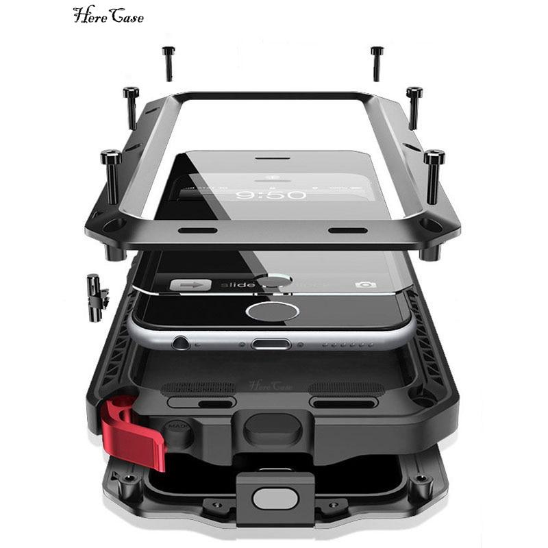 Duty Schutz Schwere Doom rüstung Metall Aluminium telefon Fall für iPhone 11 Pro Max XR XS MAX 6 6S 7 8 Plus X 5 S 5 Stoßfest Abdeckung