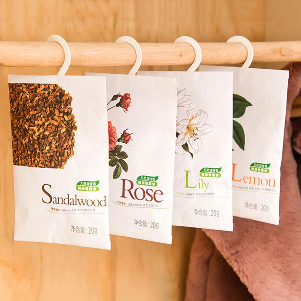 Fragancia de ambientador perfumado para el hogar, armario ropero, bolsita de ambientador de coche, paquete de bolsas de incienso con olor Natural, bolsa de fragancia fresca