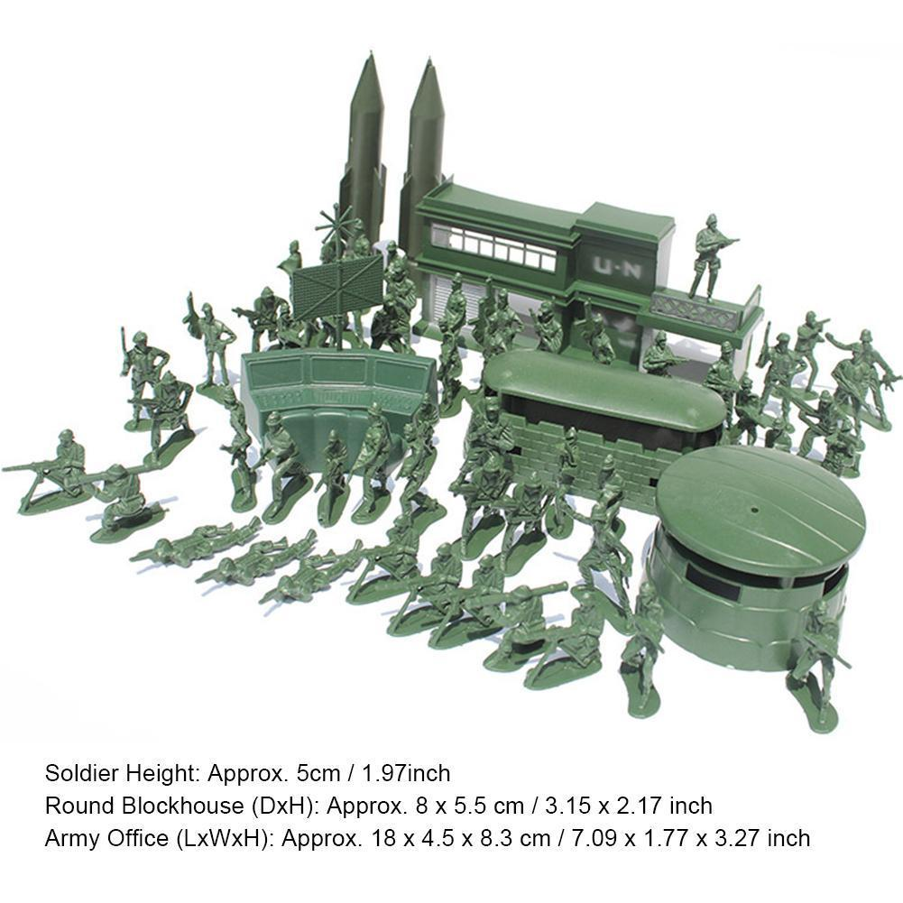 56 Pieces of 5cm Soldier Suit Military Model Sand Table Toy Toy Suit Educational Model Scene Military Boy Plastic Children' 100pcs high soldier model military sandbox game plastic toy soldier army men figures for children s toy dolls gift