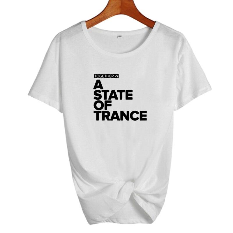 Camisetas de DJ con música en un estado de hielo, camisetas de Hip hop para mujeres, camiseta punk rock para mujeres, ropa camiseta femenina