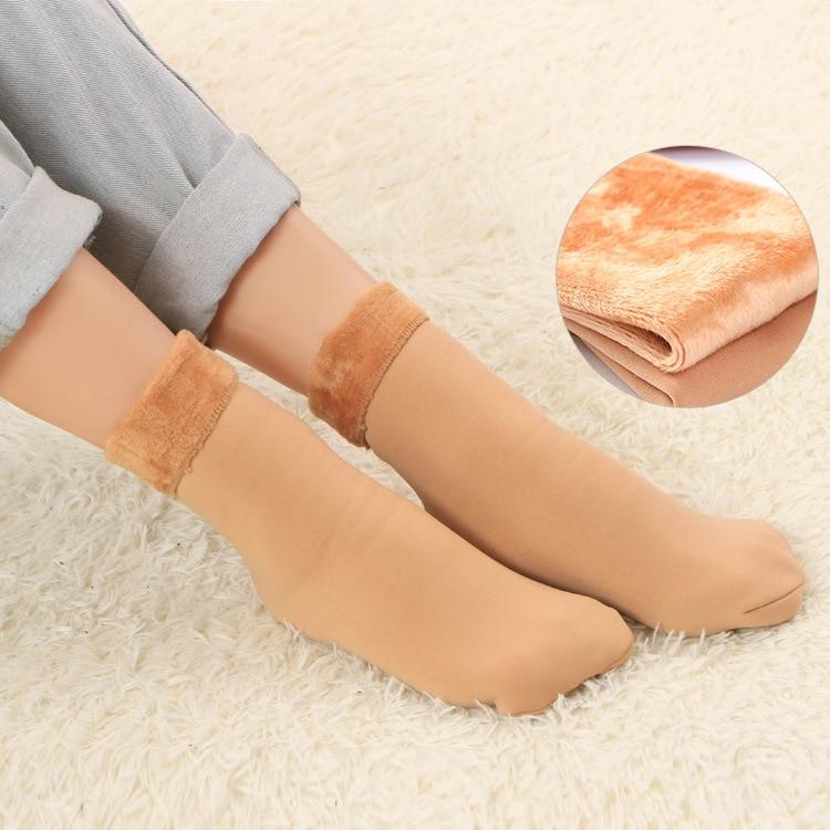 Clearance Winter Warmer Women Thicken Thermal Wool Cashmere Snow Socks Seamless Soft Velvet Boots Floor Sleeping Socks for Mens