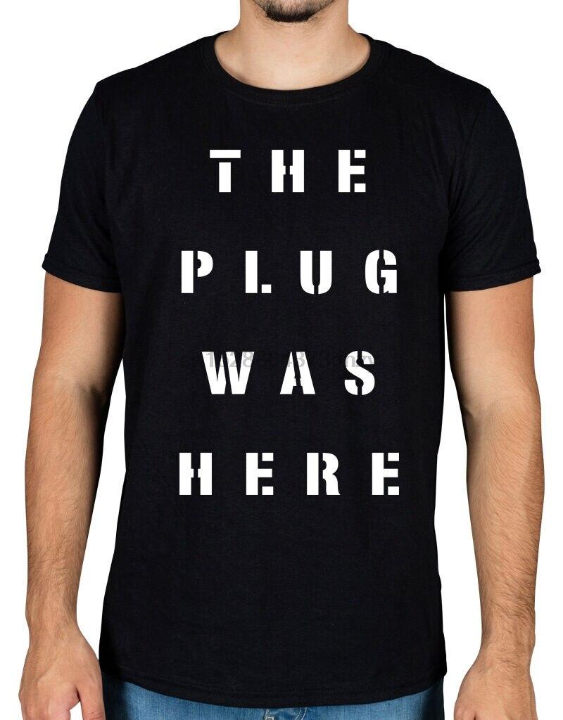 El enchufe fue aquí camiseta de comando Migos Offset YRN Quavo Offset calidad de impresión nuevo estilo de verano Camiseta de algodón