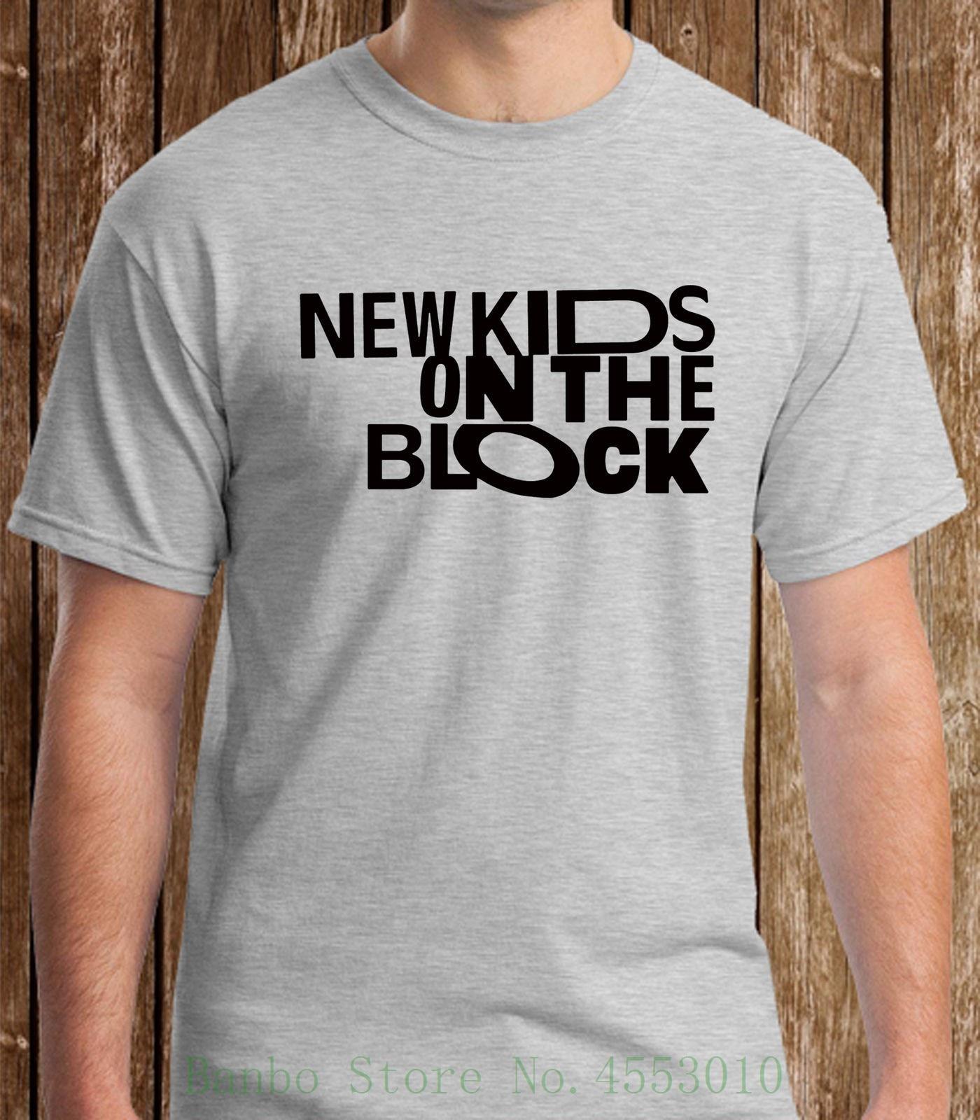 Nkotb novas crianças no bloco menino banda logo cinza t camisa dos homens t s 3xl camisas verão manga curta novidade