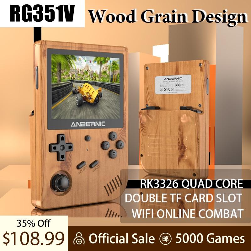 ANBERNIC-mando de juegos RG351V, Consola de juegos Retro, RK3326, Wifi, pantalla IPS...