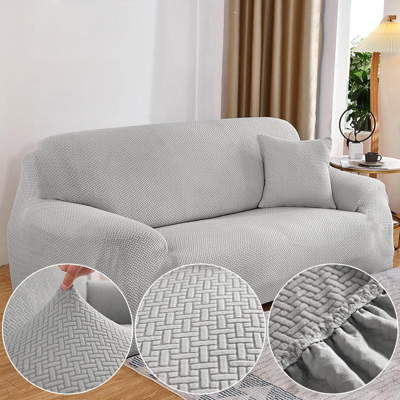 الصلبة هندسية أريكة من قماش الجاكار غطاء لغرفة المعيشة كل غطاء مرونة الزاوية الأريكة الغلاف أريكة حامي 1/2/3/4 مقعد 45011