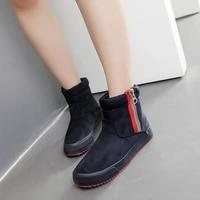 women winter 2020 snow boots warm plush fur platform easy slip on flat short boot faux suede fashion brand womens ankle botas