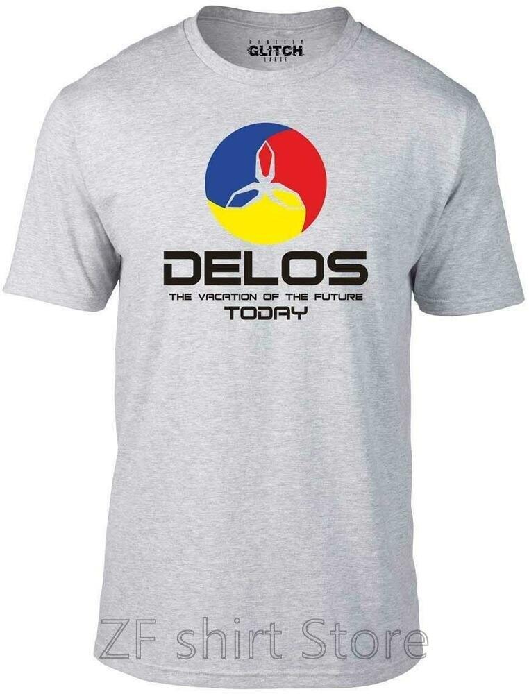 Camiseta divertida de Delos, camiseta retro de ciencia ficción west cyborg, camiseta de ciencia ficción para hombres, camisetas de algodón 100% para mujeres