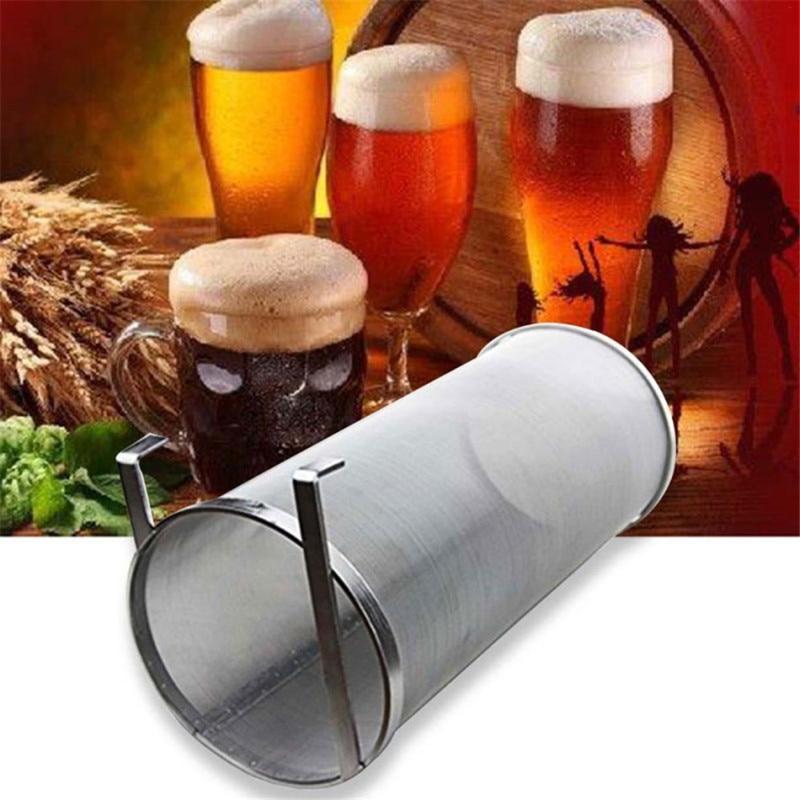 Filtro de malla de acero inoxidable para cerveza artesanal, filtro con gancho para cerveza, filtro con forma de araña