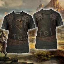Tessffel Chevaliers Templar Armure Cavalier Streetwear Harajuku Survêtement Nouvelle Mode 3dprint Unisexe Short T-shirts Hommes/Femmes s-3