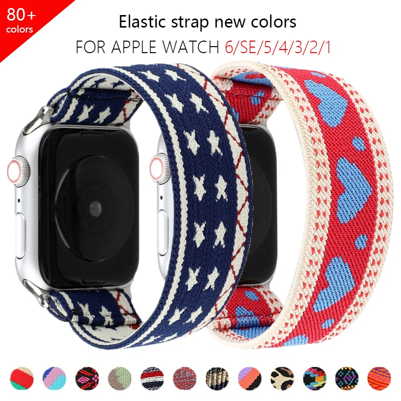 1 1 offical strap for apple watch series 6 5 se 4 braided solo loop 40mm 44mm woven watchbands for iwatch 3 2 1 38mm 42mm strap 2021 Solo Loop Nylon Elastic Strap For Apple Watch band 44mm 40mm 38mm 42mm fabric Strap for iWatch Series 6 SE 5 4 3 2 1