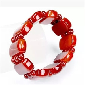 Natural Red Agate Bracelet Hand String Beads Evil Year Of Fate