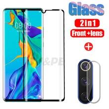 2in1 Schutz Glas Für Huawei P30 P20 Mate 20 30 lite Pro Screen Protector Kamera Objektiv Huawei P30 Pro P smart Gehärtetem Glas