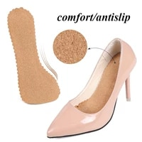female non slip insole mat cork seven point pad non slip wear resistant self adhesive shock absorbing insole sweat absorbent pad