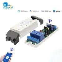 EWeLink     interrupteur intelligent sans fil avec minuterie  Module de commande vocale  WiFi  Compatible avec Google Home  2CH