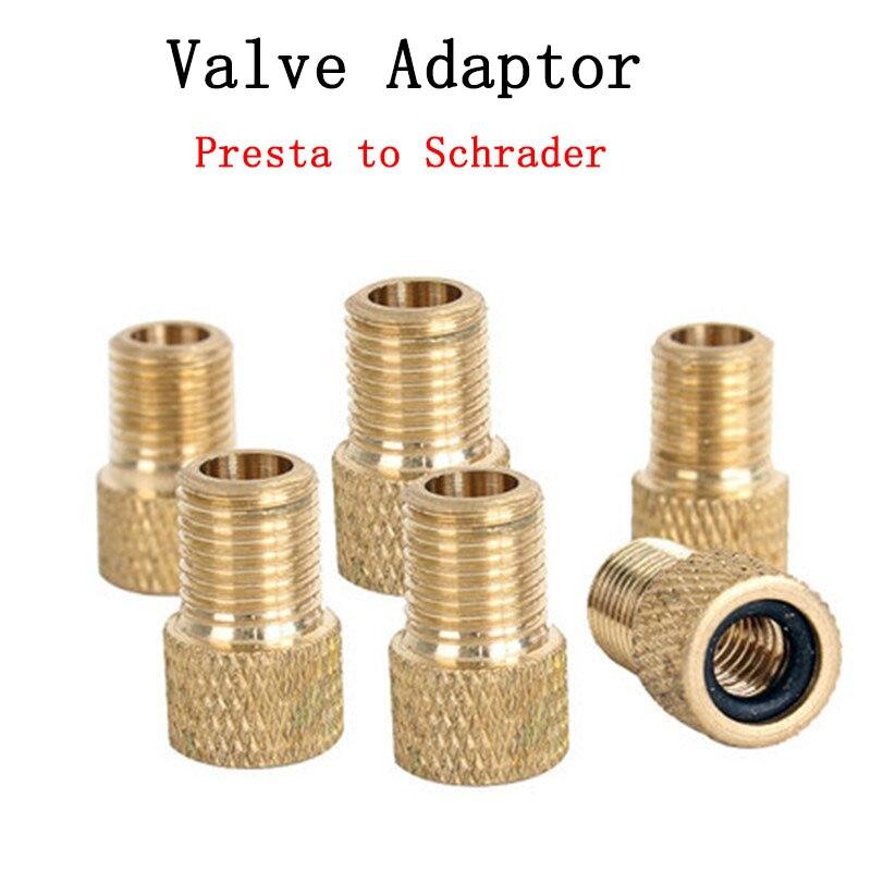 2 Buah Pompa Adaptor Katup Konversi Presta Ke Schrader Roda Adaptor Katup Tembaga Alat Tabung Nosel Gas Aksesori Sepeda
