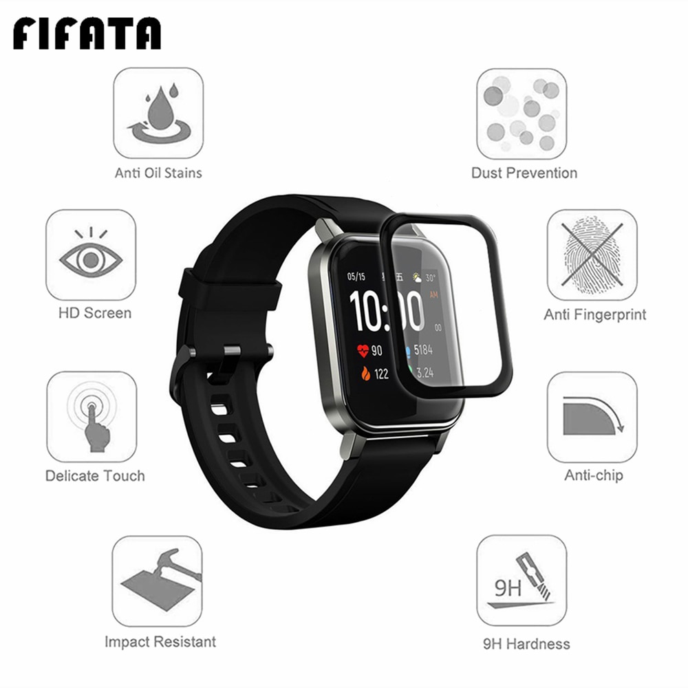 FIFATA 1/2pcs HD Clear TPU / 5D Curved Edge Protective For Xiaomi Haylou Solar LS01 LS02 LS05 Watch Full Screen Protector Film