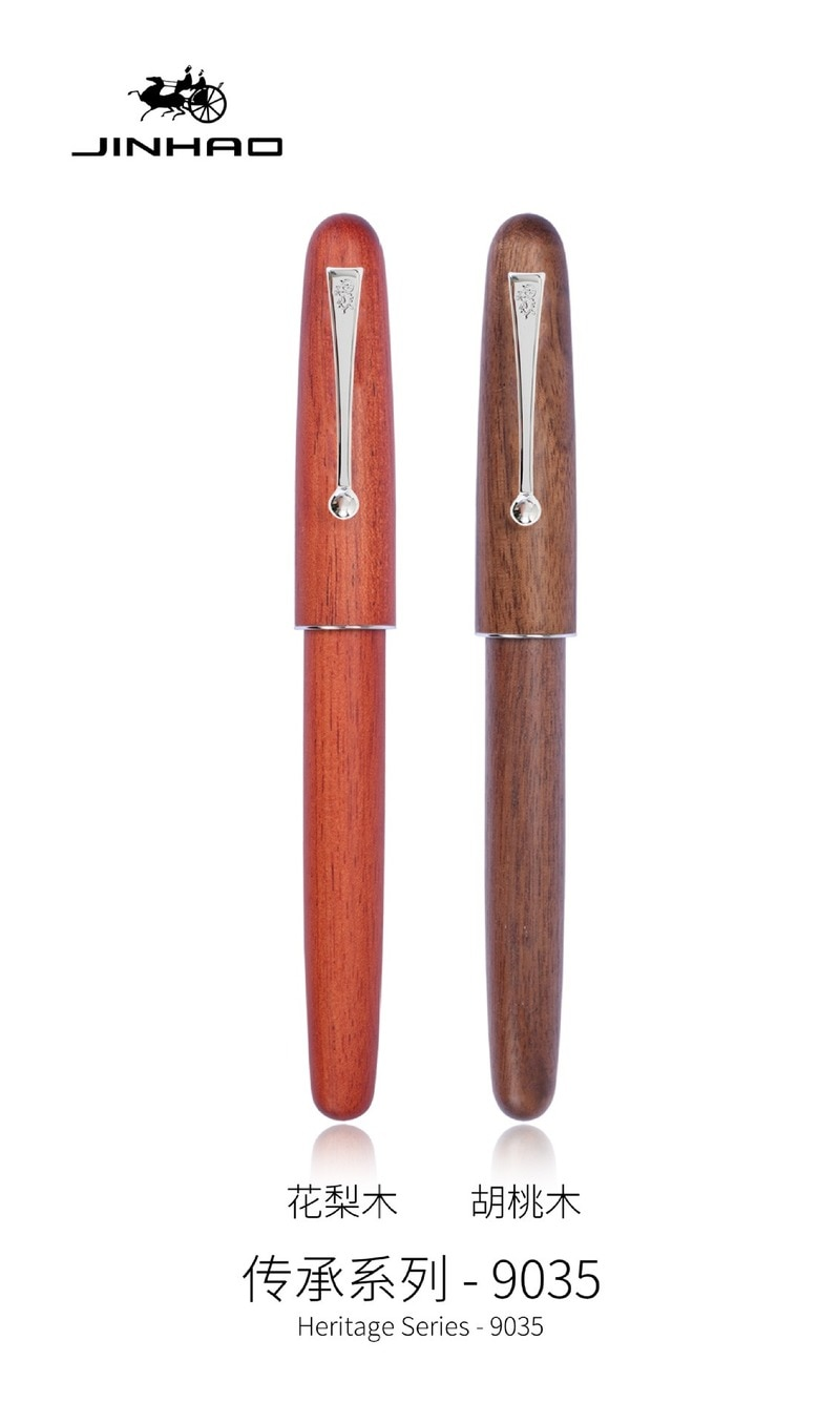 JINHAO 9035 GIFT fountain pen NEW fashion Rosewood Walnut wood color silver Stationery Office school supplies Writing