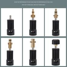 Adaptador de conector de alta pressão para conexão ar/interskol/lavor/bosche/huter/m22 lança para arma karcher baioneta fêmea