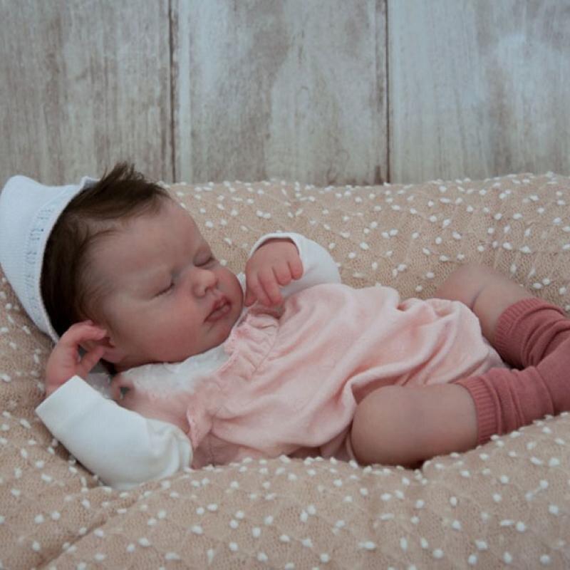 RBG Reborn Kit Reborn Baby Vinyl Kit 20 Inches Loulou Unpainted Unfinished Doll Parts DIY Blank Reborn Vinyl Doll Kit