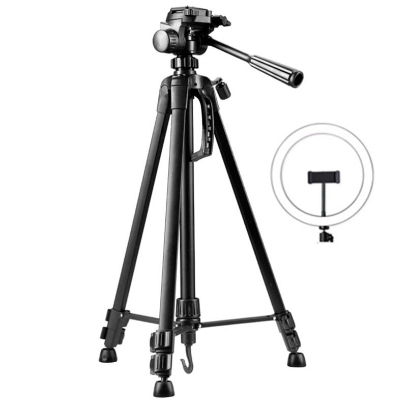 360-degree Telescopic and Height-adjustable 10-inch Fill Light Tripod, Portable Camera, Mobile Phone, Real-time Flash Stand