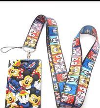 Hot 1 pcs cartoon Donald Duck minnie  Lanyard Key Lanyard Cosplay Badge ID Cards Holders Neck Straps Keyrchains