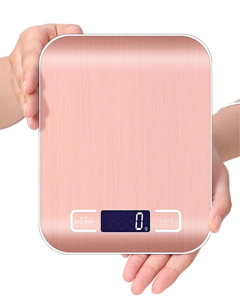 Профессиональные бытовые цифровые кухонные весы, электронные пищевые весы из нержавеющей стали, весы, измерительные инструменты, г/кг/фунт...