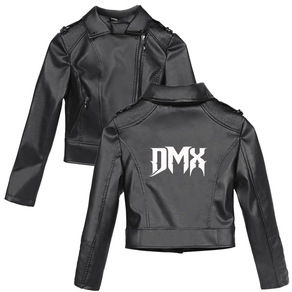 DMX قصيرة بولي Leather سترة جلدية الشرير سليم زيبر فو الجلود معاطف الإناث سترة جلدية الشارع الشهير معطف سترة المحاصيل الأعلى 2D طباعة