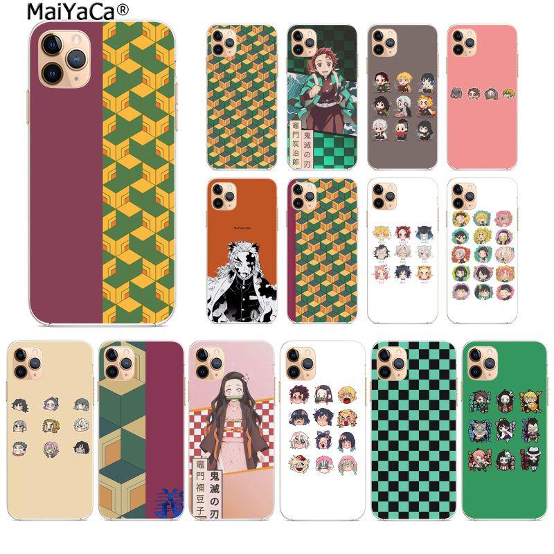 MaiYaCa Kamado Nezuko Kimetsu no Yaiba Demon Phone Case Cover Shell for iPhone 11 pro XS MAX 8 7 6 6S Plus X 5 5S SE XR cover