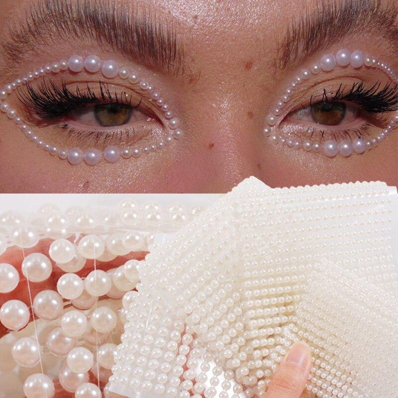 3D глаза, лицо, фотосессия, татуировка, самоклеящаяся, красота, белая жемчужина, фотосессия, фестиваль, боди-арт, украшения для ногтей, алмаз