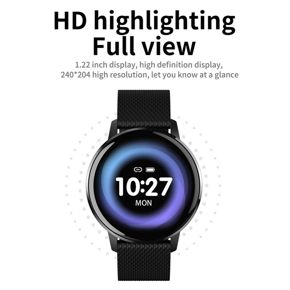 Reloj inteligente T4 pulsera de corazón de presión arterial monitor, con avisos de recordatorio Fitness Tracker reloj inteligente impermeable para Android IOS